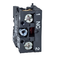 ZB2BE201 - contact block ZB2 - spring return - 1 NO - slow-break/staggered - front mounting, Schneider Electric