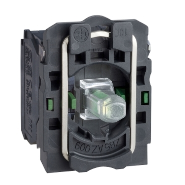 ZB5AW0B13 - bloc luminos alb cu corp/guler fixare, cu LED integral 24V 2ND, Schneider Electric