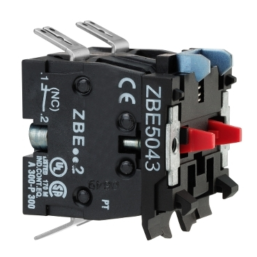 ZBE5023 - single contact block for head diametru 22 1NC Faston connector, Schneider Electric